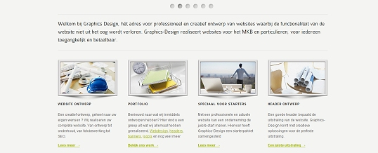 Nieuwe lay-out Graphics-Design online